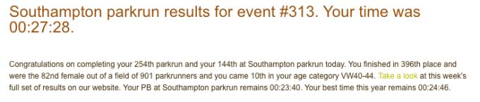 Southampton parkrun 16 June 18
