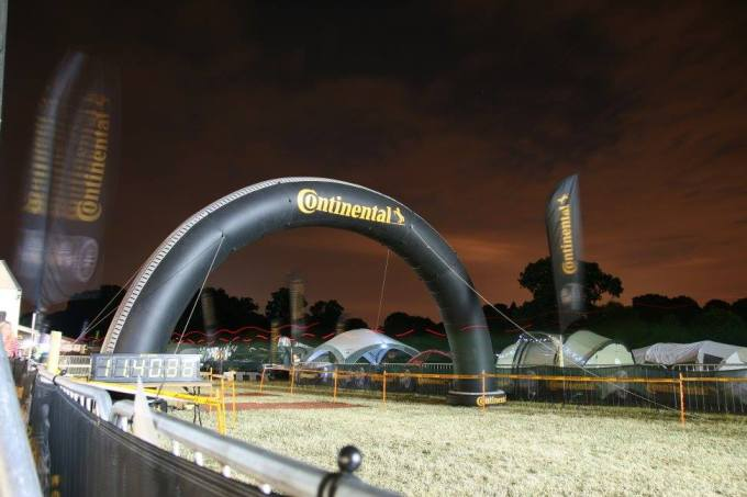 The start/finish arch the night before Thunder Run