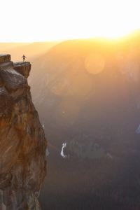 Person standing in Yosemite Valley, USA to illustrate feeling free