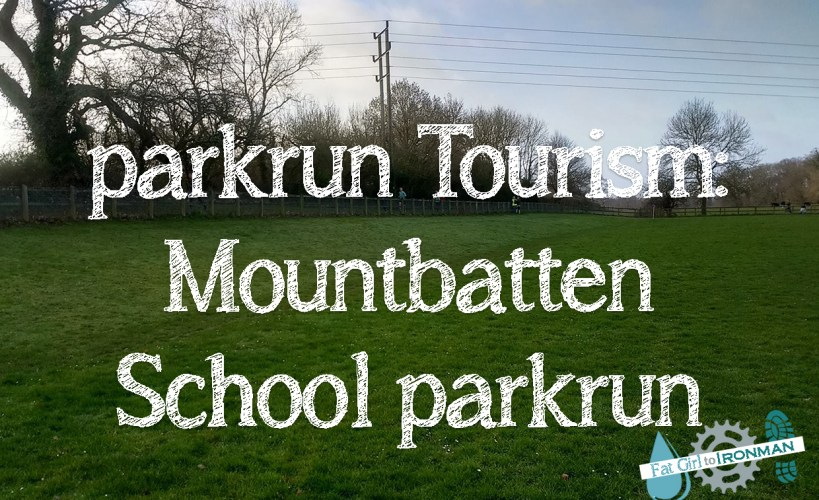 parkrun Tourism: Mountbatten School parkrun superimposed over an image of the school field.