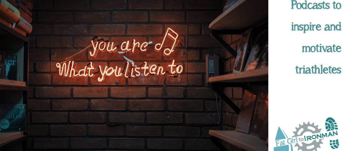 "A neon sign saying ""You are what you listen to""."
