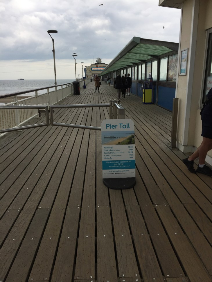 View of Bournemouth Pier.