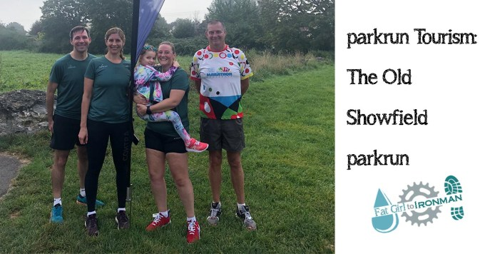 Stuart, Kate Tamsyn, M and Pete at the Old Showfield parkrun.