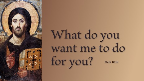 Monday of the Thirty-third Week of Ordinary Time: What Do You Want Me to Do for You?