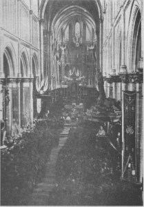 Fr Doyle in the pulpit during his last homily, July 1917