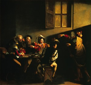 The Call of St Matthew by Caravaggio