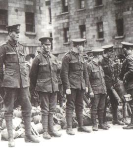 Soldiers from the 16th Irish Division. Fr Doyle was appointed chaplain 101 years ago today