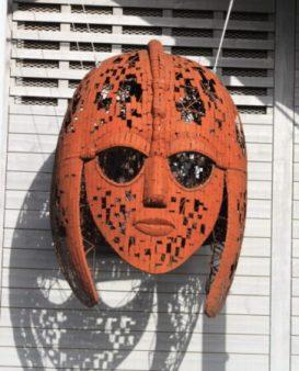Depiction of the famous Sutton Hoo helmet