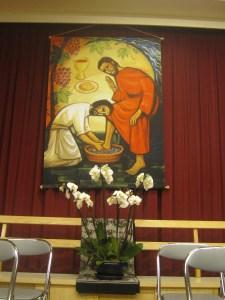 Jesus washing the feet of Peter