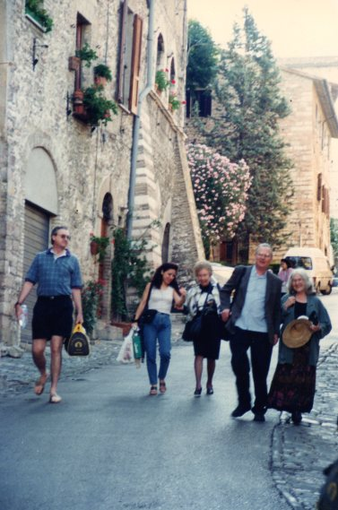 Father Hanly in Assisi with his sister Peggy