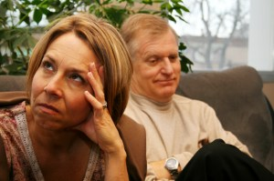 woman looking disgusted in therapy