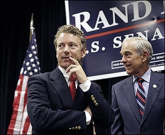 Rand Paul and Ron Paul