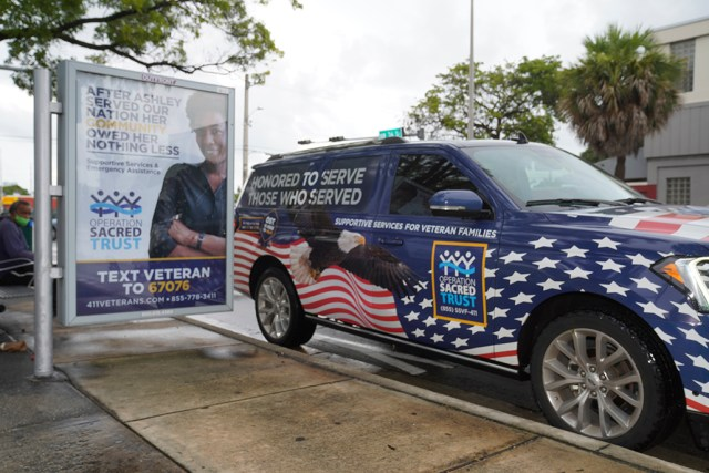 Operation Sacred Trust outreach vehicle on the streets in Miami.