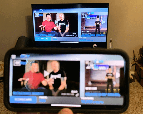 iPhone display being reflected on Roku