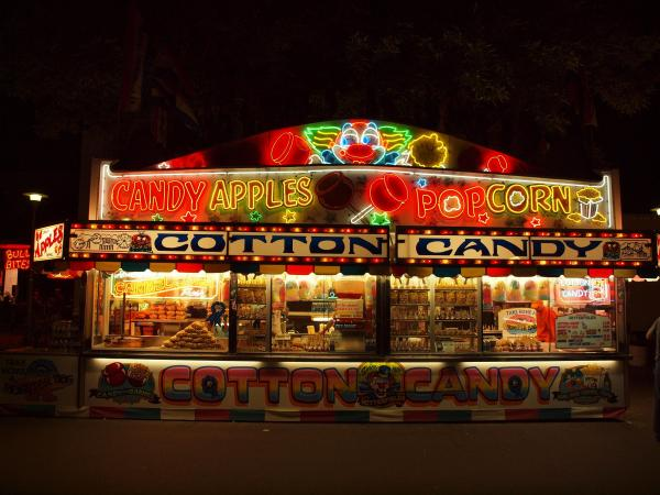Cotton Candy Stand Father Paul'
