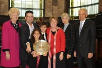 Proud Victorian Father of the Year for 2009 with Deputy Lord Mayor Susan Riley (far left) and then Governor for Victoria David de Kretser AC.