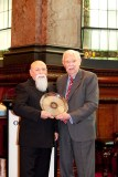 Victoria's 2012 Father of the Year Romeo Biancofiore receives the award from Father's Day Council Chairman Don Parsons.