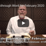 Breakthrough Word for February 2020