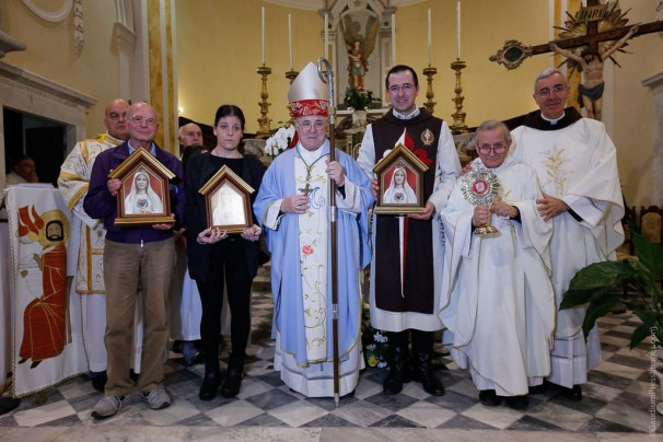 MArian MIssion at St Michael's Church with Bishop Giovanni Santini - Gragnana - Masso-Carrara, Italy