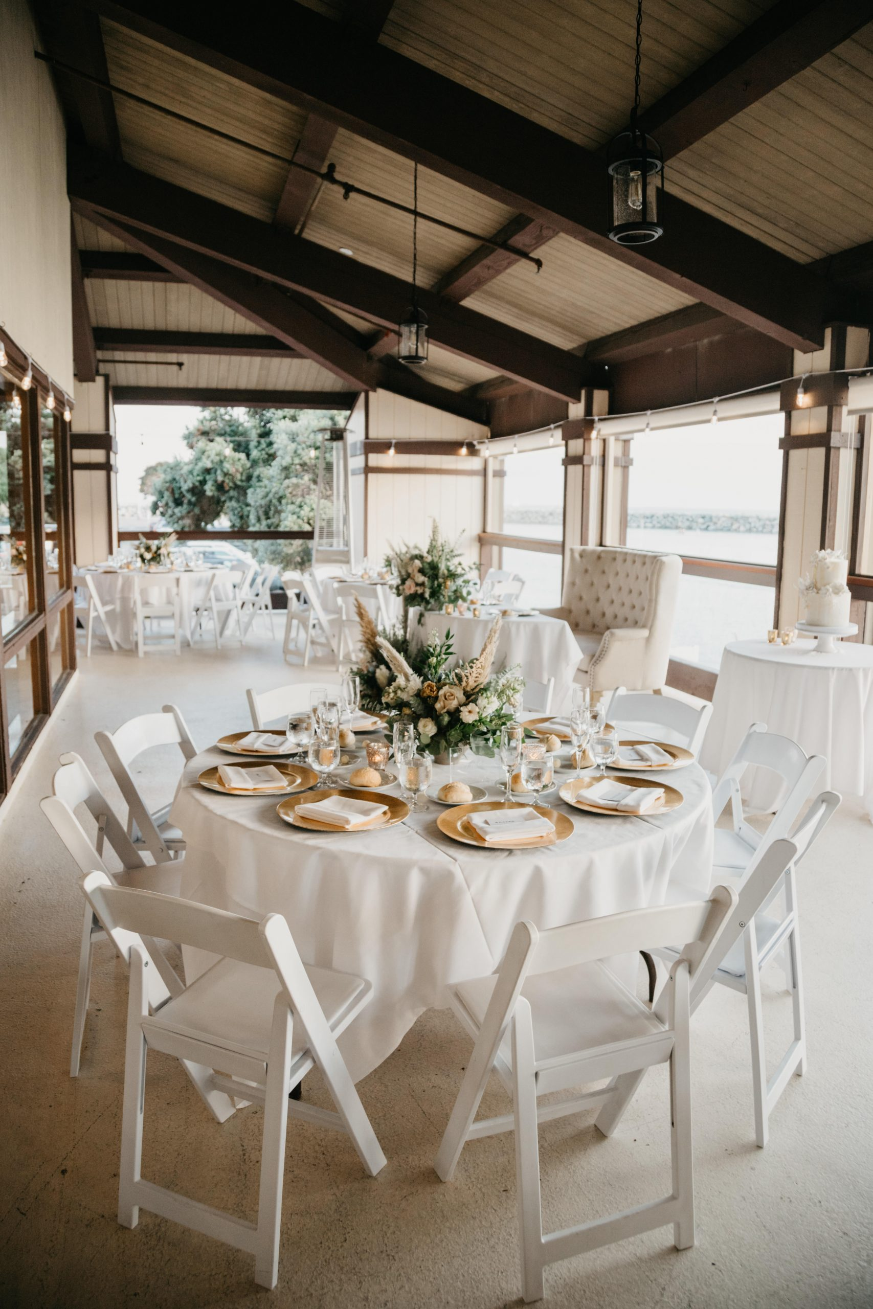 Elegant table set up at Dana Point Yacht Club, The Montage Laguna Beach Wedding Bridal Portraits, image by Fatima Elreda Photo