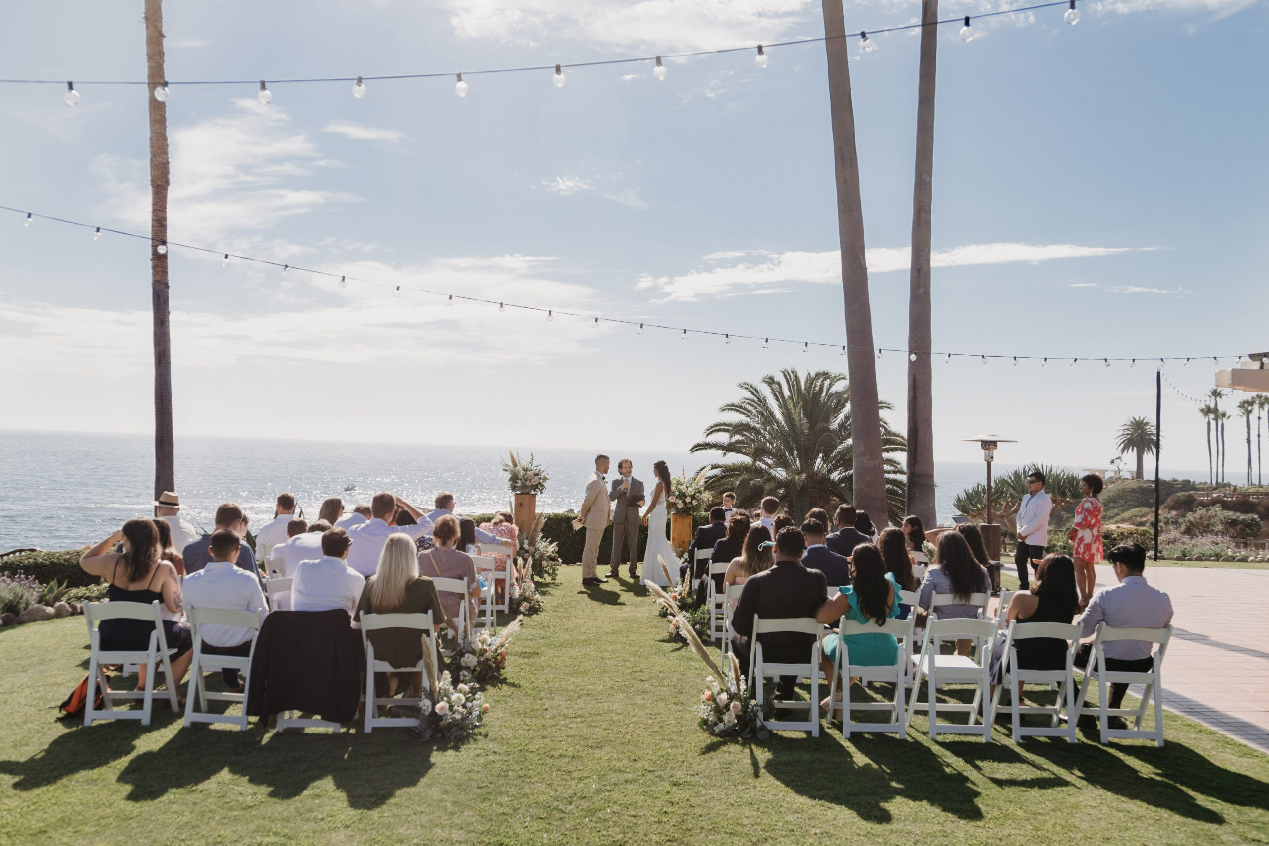 The Montage Laguna Beach Wedding Ceremony, image by Fatima Elreda Photo