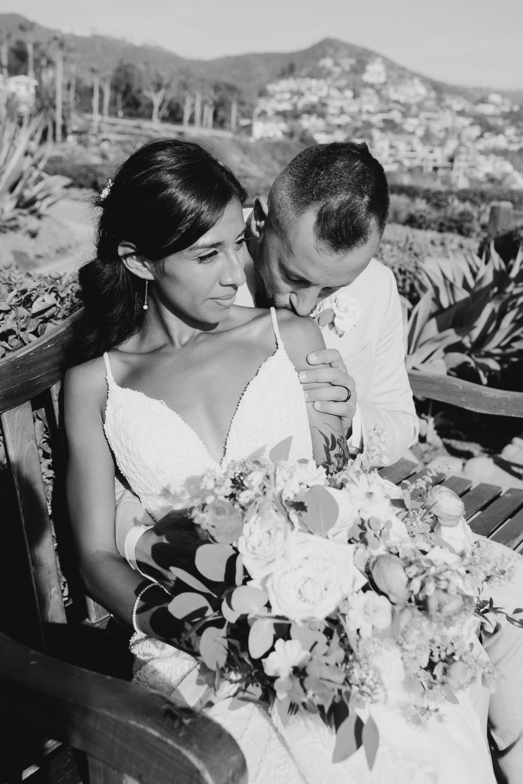 Black and White Bridal portrait, image by Fatima Elreda Photo