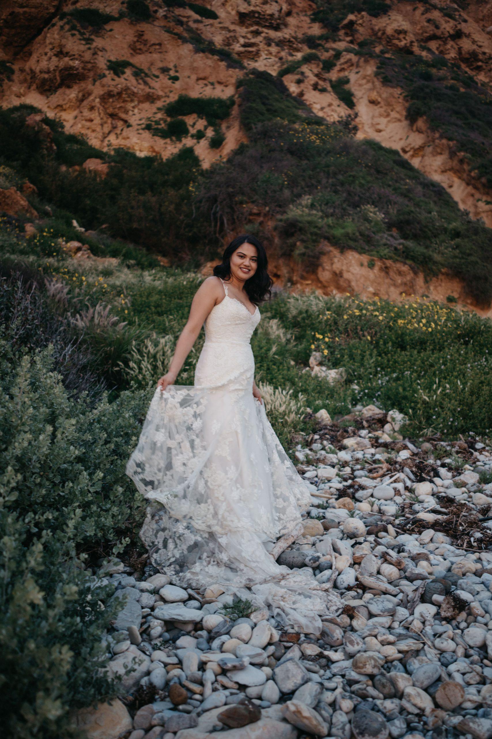 Bride portrait, image by Fatima Elreda Photo