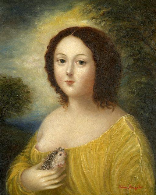 Woman with Hedgehog