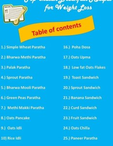 also top healthy indian breakfast recipes for weight loss ideas rh fatlossplanner