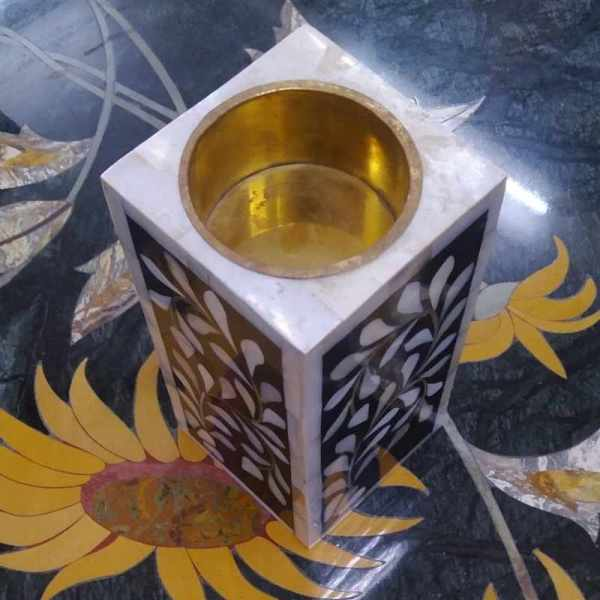 mother of pearl candle stand