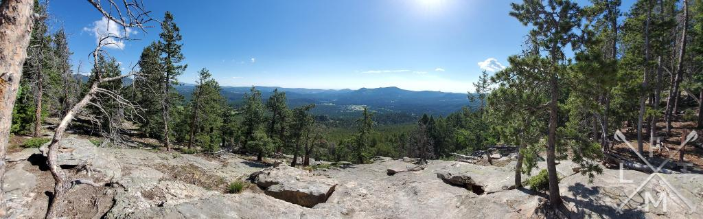 The view from the scenic area on Evergreen Mountain.
