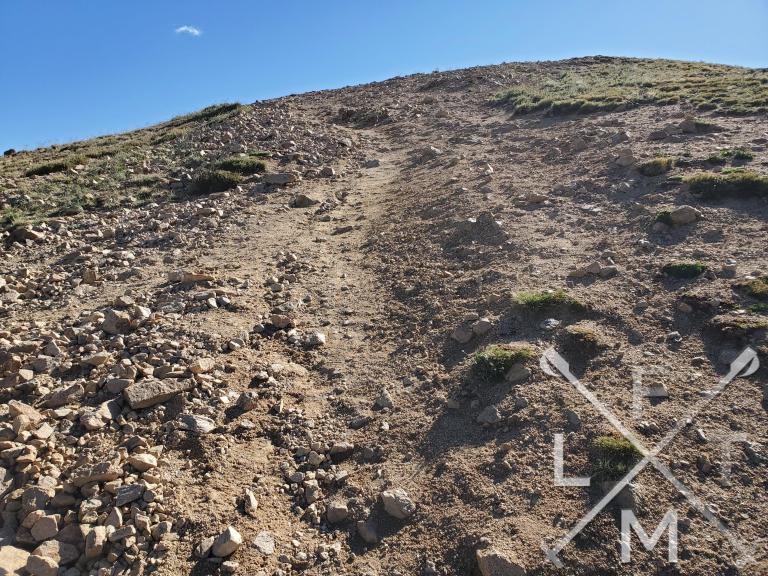 A steep hill to climb on Mt. Sniktau.