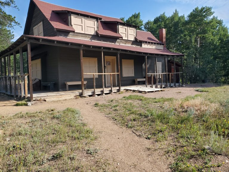 The Delonde homestead.  The windows and doors are boarded up but you can see the outside is still in really good shape.