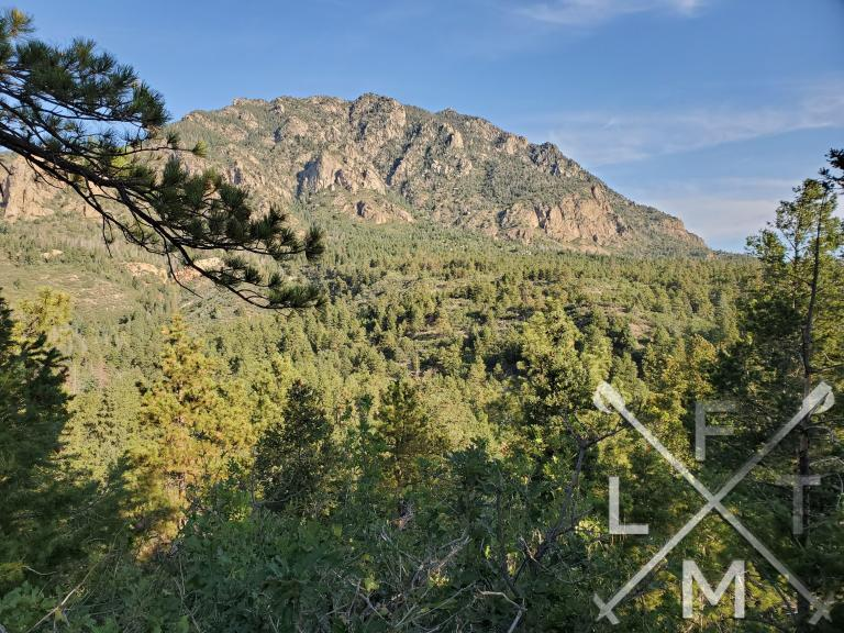 Cheyenne Mountain as seen from the overlook