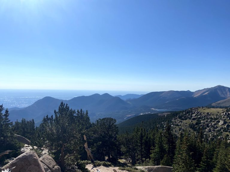 The view of the surrounding are of Pikes Peak