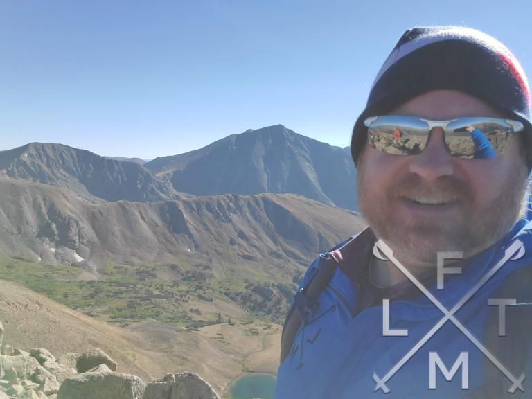 Me on the summit of Mt. Sniktau