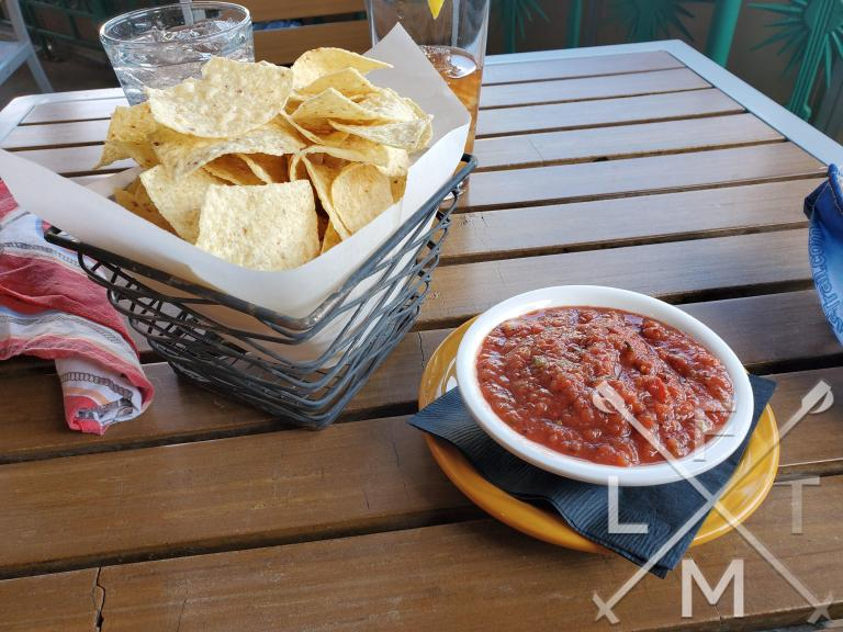 Chips and salsa at the Table Mountain Inn