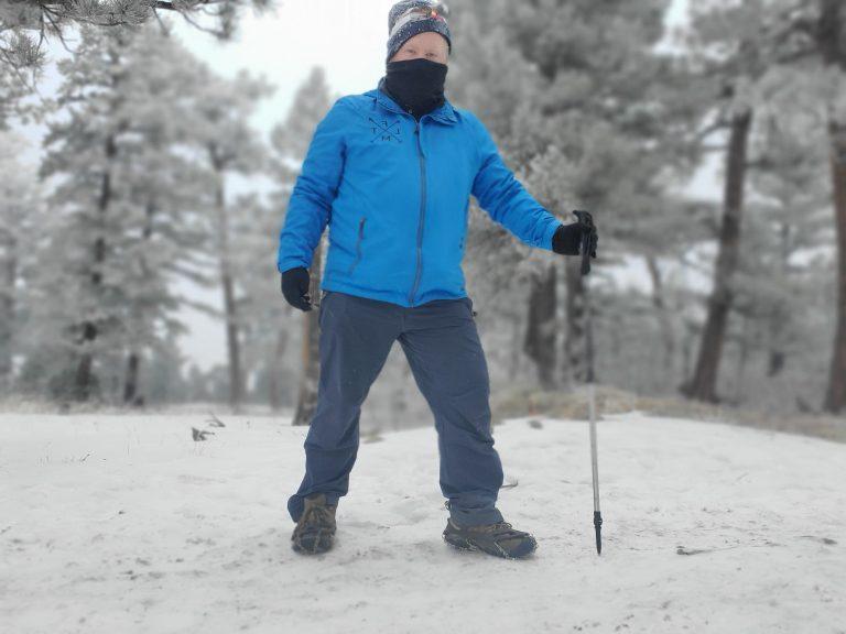 My Kuhl Klash Pants on a winter hike.