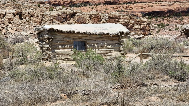 The Remains of an old ranch house on the Delicate Arch trail.  The wood is in bad shape and it looks like it could fall over at any moment but it made me think of how amazing having this as a back yard would be.