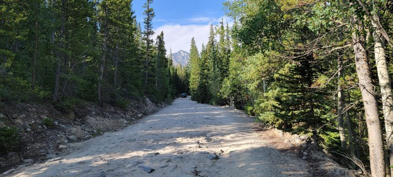 The Road to Grizzly Gulch is a pot holed and rutted road that 4x4 cars seemed to handle ok.  For a walk it was a little boring.