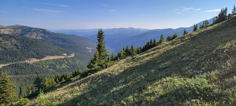 The views of the surrounding Berthoud Pass Area from the Mount Flora Trail.