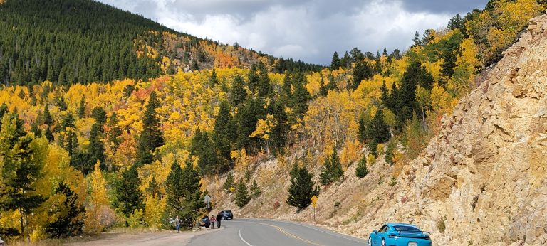 Colorado Fall Colors as seen from the Peak to Peak Highway above Ward, Colorado