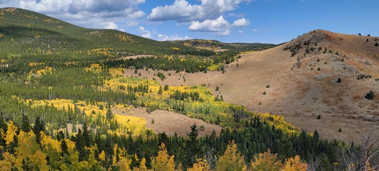 Colorado Fall Colors as seen from the Peak to Peak Highway near Ward Colorado