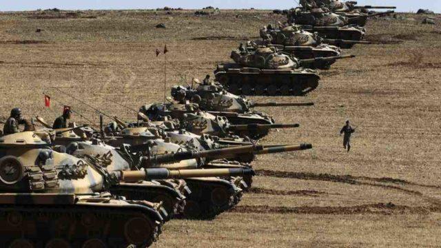 Fileira de tanques turcos - Fatos Militares