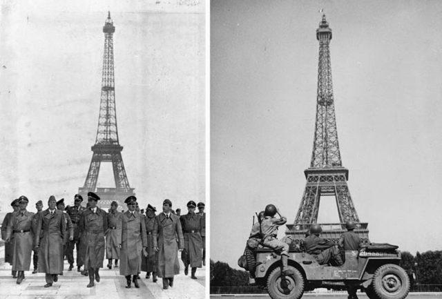 Torre Eiffel durante a Segunda Guerra Mundial