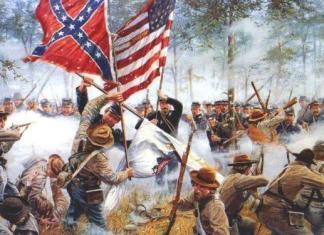 Pintura da Batalha de Gettysburg, uma das mais mais sangrentas e importantes da Guerra Civil Americana