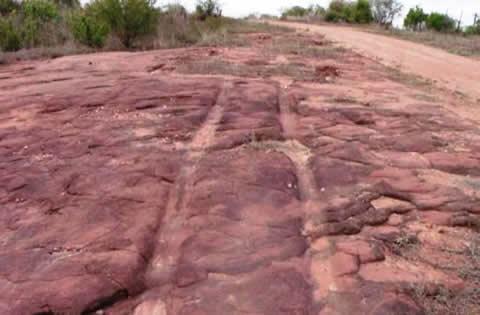Estranhas e Inexplicáveis marcas fossilizadas são encontradas na cidade de Sousa, Paraíba.