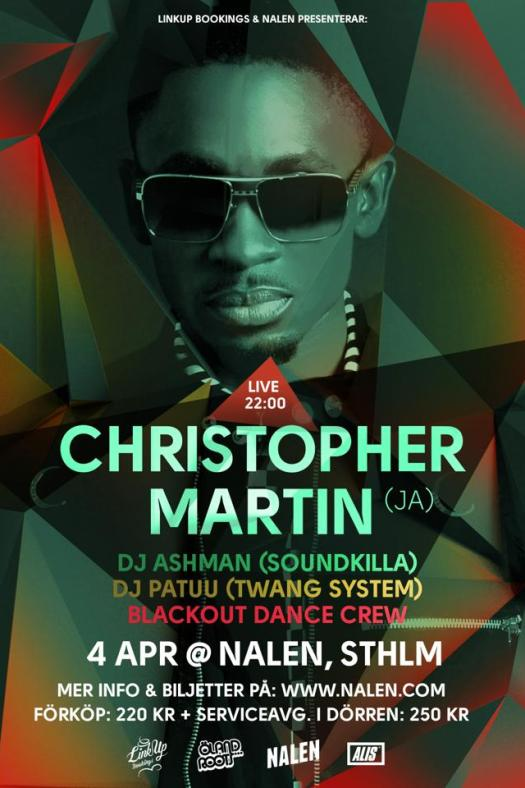christopher martin blackout stockholm