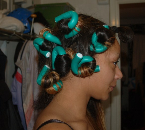 gröna hårgrejer 2