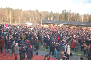 Antirasistisk demonstration i Kärrtorp
